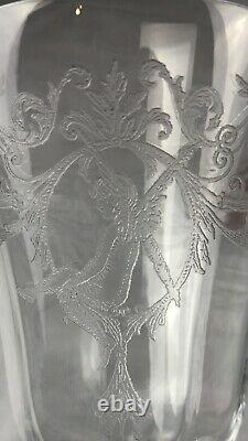 Central Glass Work Etched Morgan Fairy Tinkerbell Set Of 5 Wine Water Glass