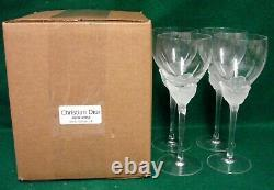 Christian Dior DIOR ROSE Wine Glasses SET OF FOUR More Item Available NEW IN BOX