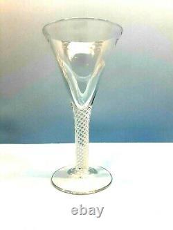 Colonial Williamsburg Set of 8 Air Twist Water/Wine Glasses