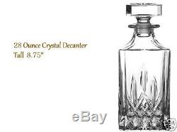 Crystal Glass Liquor Whiskey Decanter Set 6 Tumblers Bottle Wine Stopper Scotch