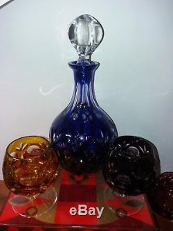 Crystal set of 6 wine glasses and decanter Nachtmann
