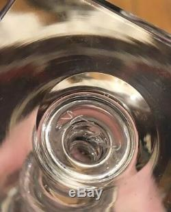 Custom Set Of 12 Steuben Etched Wine Glasses/stemware Ca 1930s Original Box