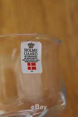 Danish Holmegaard White Wine Glasses set of six