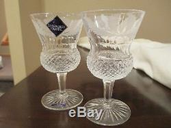 Edinburgh Crystal THISTLE Caret Wine Goblets Set of 2 New withSticker 4.5 Tall