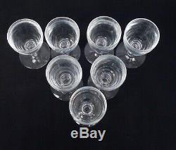 Elegant Vintage Estate Found set 7 Steuben 6268 Port Wine Sherry Glasses