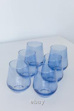 Estelle Cobalt Blue Stemless Wine Glasses Set of 6