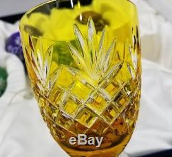 Faberge Odessa Flock Wine Glasses Set 8-3/8 tall 3w