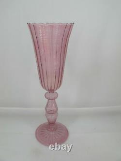 Fine COLORFUL Handblown Italian VENETIAN Murano Wine Glass Stemware Set of 6