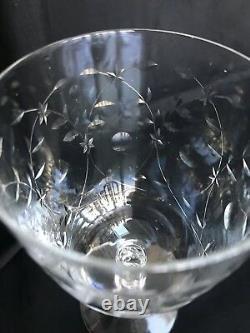 Fostoria Christiana 6030 Cut 814 Stem Low Water/Wine Goblets (6-1/4) Set of 8
