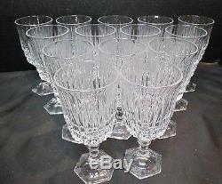Fostoria Lead Crystal Heritage Set of 14 Wine Goblets 6 1/8 Tall