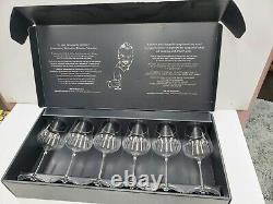 Gabriel Glas Set of 6 Mouth-Blown Austrian Crystal Wine Glass Gold Edition