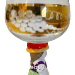 Goebel Hummel Wine Cordial Glasses German 14K Gold Trim Set Of 5 Vintage