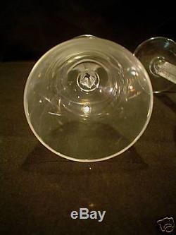 Gorgeous Set/4 Lalique Crystal Phalsbourg Wine / Claret Goblets
