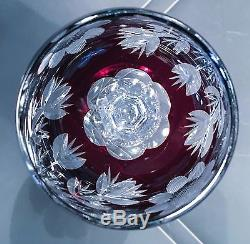 Holiday Bling Set of Four Cut Crystal Hock Wine Goblets