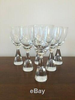 Holmegaard Denmark Princess White Wine Glass Bent Severin Set of 6