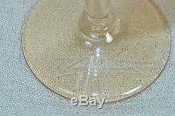 ION TAMAIAN Art Glass Wine Glasses Multicolored Set/4 Signed Romania New