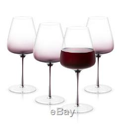 JoyJolt Black Swan Red Wine Glasses, Set of Four 26.8 Oz