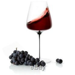 JoyJolt Black Swan Red Wine Glasses, Set of two 26.8 Oz