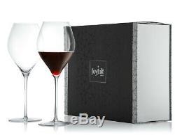 JoyJolt Layla Extra Large Wine Glasses, 30.7 Oz Set of 4 Lead-Free Crystal Glass