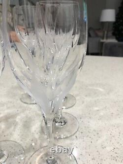 MIKASA FLAME D'AMORE CRYSTAL 9 CORDIAL Set of 6 WINE GLASSES GLASS 8 9 1/4