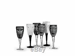 Mats Jonasson Målerås Set of 2 Electra/Kubik Wine Glass Black 25cm