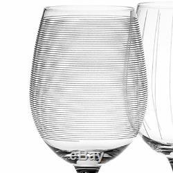 Mikasa Cheers Set of 4 Crystal White Wine Glasses, 450 ml (15 fl oz)