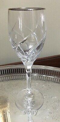 Mikasa Olympu Platinum Set of 16 Water and Wine Glasses Perfect Condition