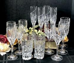 Mikasa Uptown Set of Water, Wine, Highball and Champagne Glasses 16 piece set