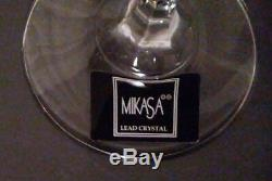 Mikasa Wine Glass (set of 8) English Garden Lead Crystal Made in Slovinia NEW