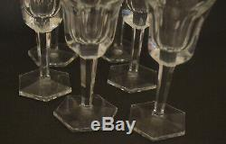 Moser''pope'' Pattern Port Wine Glasses Set 6