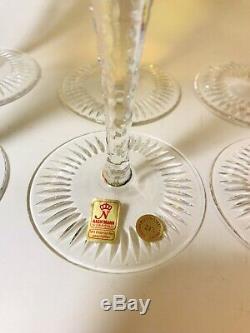 NACHTMANN TRAUBE Vintage Color Crystal. 6 7/8 Wine Hock SET OF 6! Rare STUNNING