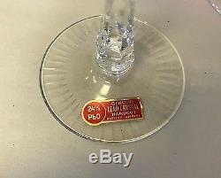 NEW! Set 12 Bohemian Hock Wine Glasses Cut to Clear 24% Lead Crystal Germany NIB
