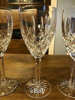 NEW Set of 4 Waterford Araglin 10oz Water/Wine Goblets withOriginal Box 8 Tall