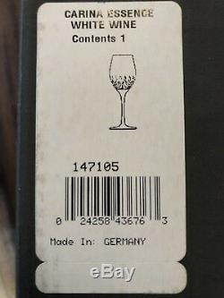 NEW Waterford Crystal Carina Essence White Wine Glass w Box, set of 6