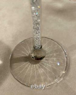 NIB Svarovski Crystal Crystalline Stem Wine Glasses Set of Two Current Season