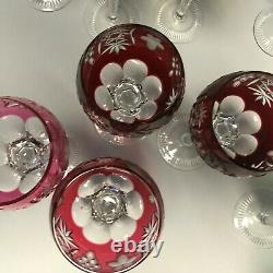 Nachtmamn TRAUBE Wine Goblets rare multicolor six colors set of 12 exc. Cond