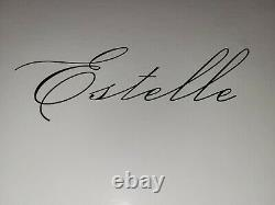 New Estelle Amber Smoke Colored Wine Glasses Set of 6
