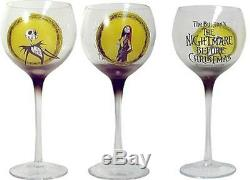 Nightmare Before Christmas Wine Glass Set 2004 New