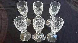 OUT OF STOCK Waterford Sherry Goblets 6 3/8th high. Set of six (6)