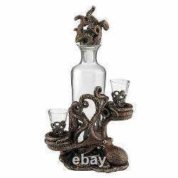 Octopus Spirit Decanter Set Home decor wine accessory Statue Figurine shot glass
