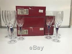 Orrefors Intermezzo Stemware Blue 2574/16 White Wine Set Of 8