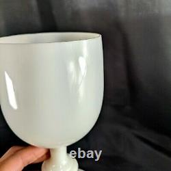 Portieux Vallerysthal PV French White Glass Wine Goblet Set of 6