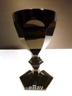 RARE Baccarat HARCOURT (1841-) DARKSIDE Black Angel Set of 2 Wine Goblets