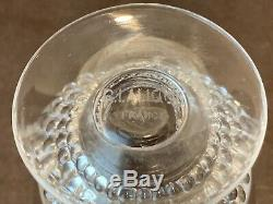 R Rene Lalique Nippon White Wine Glasses Set of 11 3767 France Crystal 3 1/2 H