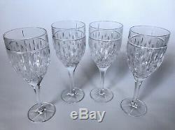 Ralph Lauren Aston Crystal Water Goblets Wine Glasses Set Of 4 New
