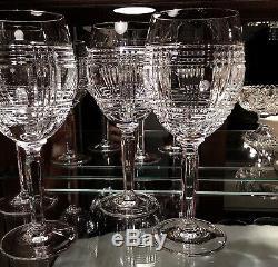 Ralph Lauren Crystal Glen Plaid 8 1/4 Wine Glasses (Set of 4)