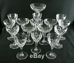 Rare Antique BACCARAT Flawless Crystal Set 16 x Champagne Cocktail Wine Goblet