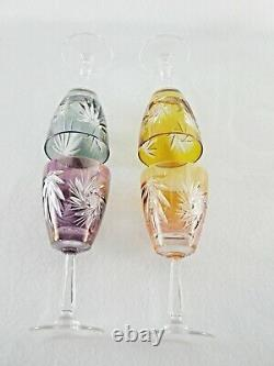 Rare Antique BACCARAT Flawless Crystal Set 4 x Wine Goblet & 5 x Sherry Goblet