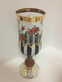 Rare & Retired Mackenzie Childs Heirloom Champagne Flutes -beautiful 7 Piece Set