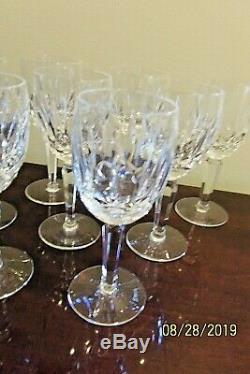 Rare Set of Twelve (12) Waterford Lismore Crystal 6 1/2 Stem Wine Glasses-EUC
